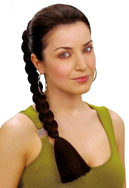 Extension de tresse noire avec pince à cheveux