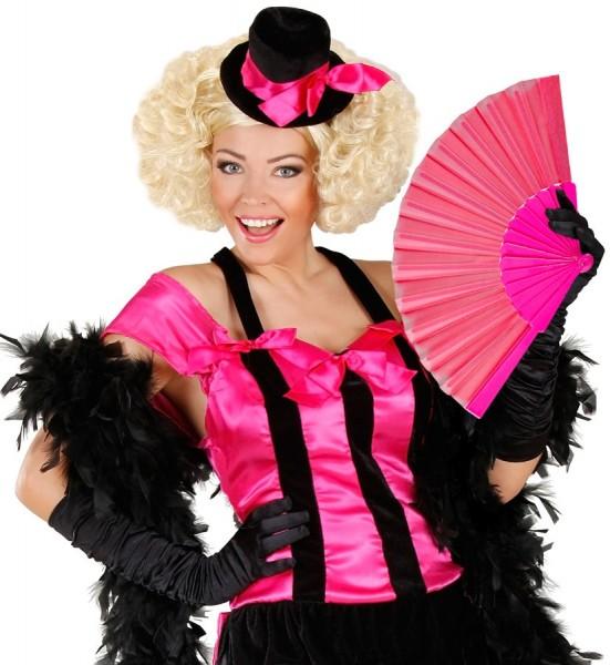 Pinker Party Fächer 23cm