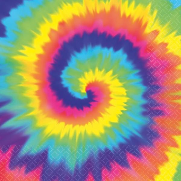 16 Hippie Servietten Regenbogen 33 x 33cm