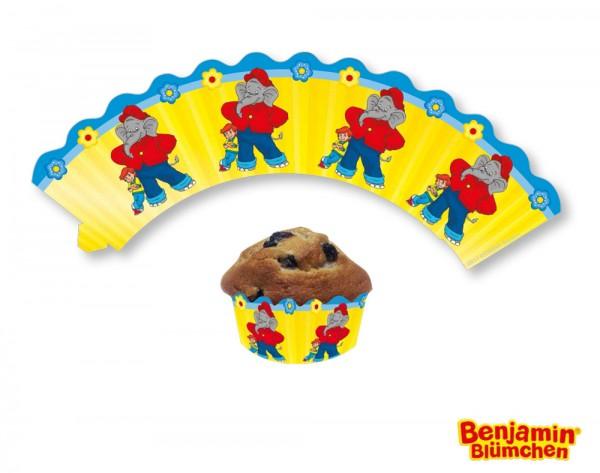 12 manchons à muffins Benjamin Blümchen