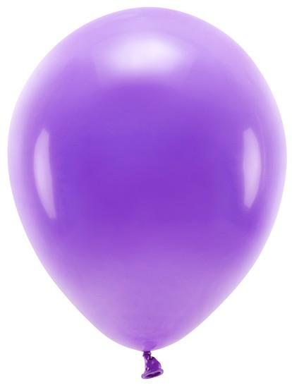 100 Eco Pastell Ballons violett 30cm