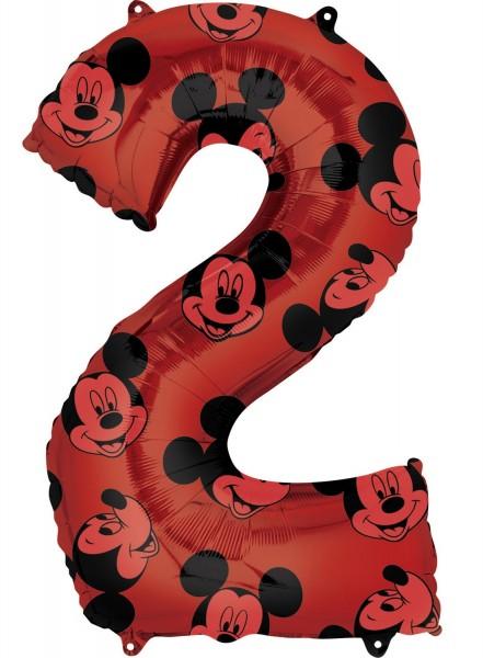 Mickey Mouse Zahl 2 Ballon 66cm
