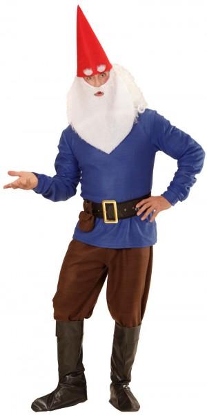 Heren dwerg kostuum blauw