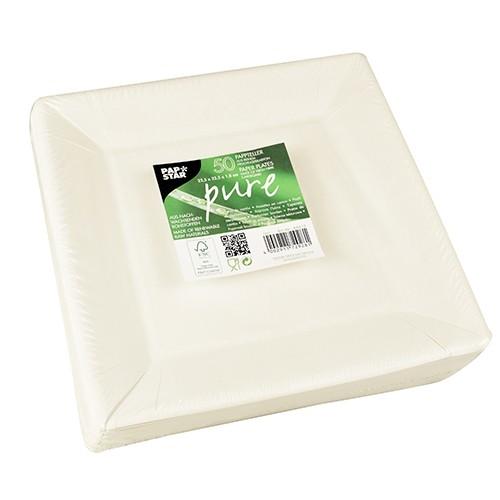 50 FSC plates Donizetti square 22.5 x 22.5 cm