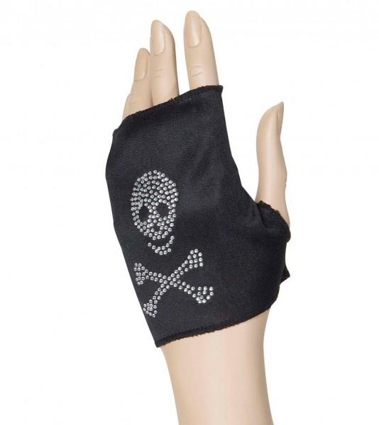 Totenkopf Handschuh Schwarz
