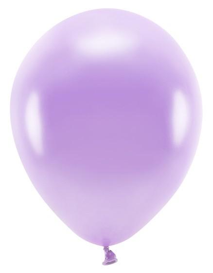 100 Eco metallic Ballons flieder 30cm