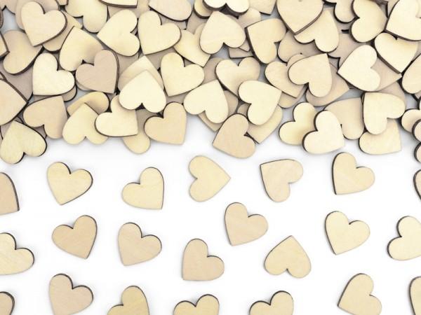 50 corazones decorativos de madera 2 x 2cm