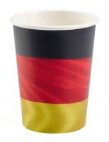 8 Deutschland Pappbecher 266ml