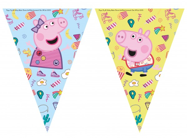 Cadena de banderines Peppa Pig Play Day 2,3m