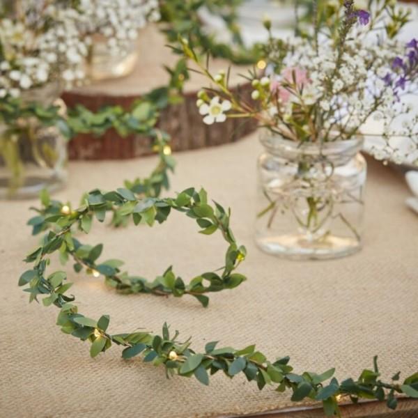 Landliebe Hochzeit Blätter Lichterkette 3m