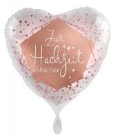 Herz Folienballon Zur Hochzeit 45cm