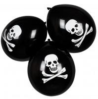 6 Piratenparty Totenkopf Ballons