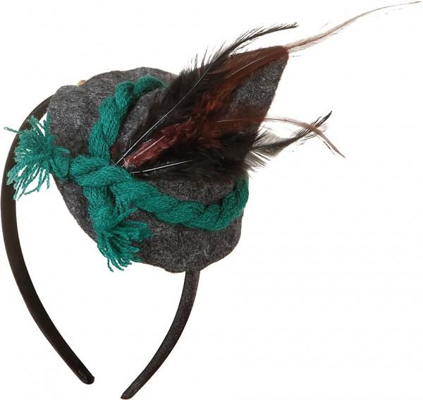 Mini Trachtenhut mit grüner Kordel