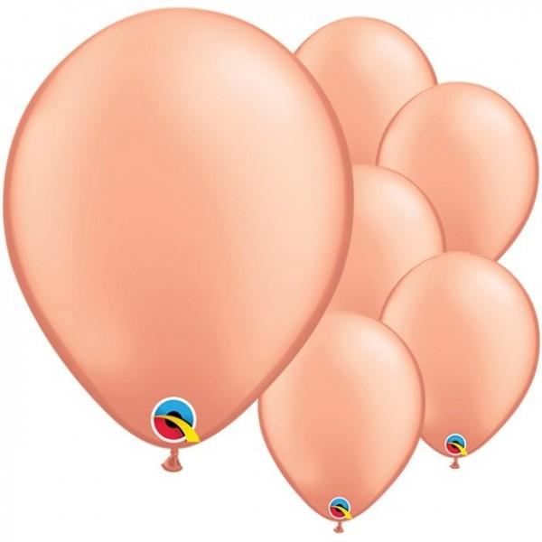 100 globos de oro rosa Pasión 28cm