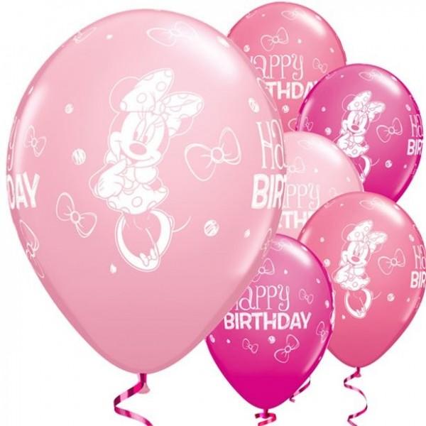 25 Minnie Mouse Luftballons 28cm