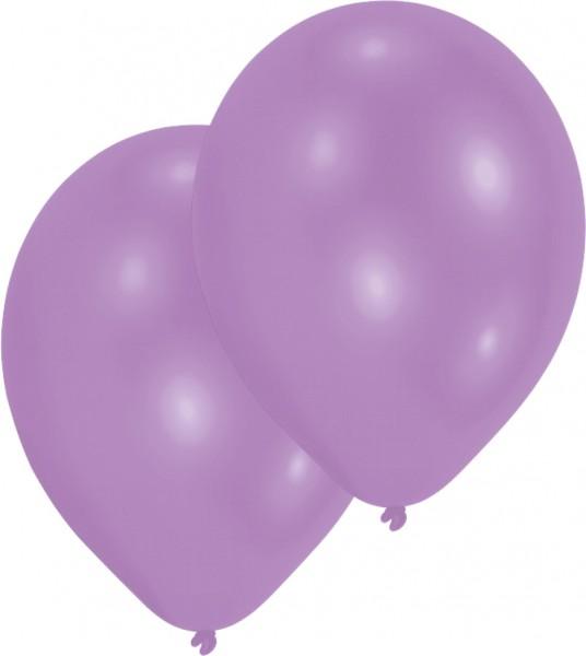 50er-Set Luftballon Lila 25 cm