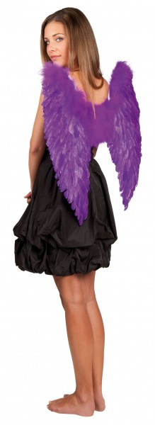 Lila Flügel Dämonin Engel
