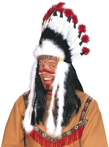 Indianer Häuptling Feder Kopfschmuck
