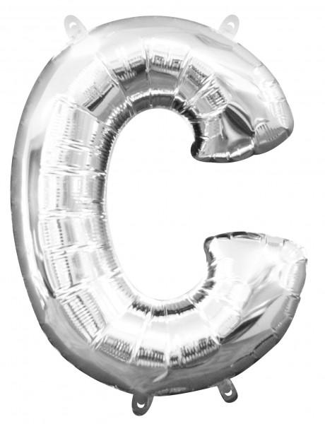 Palloncino mini foil lettera C argento 40cm