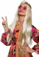 Hippiebraut Perücke Blond