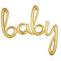 Goldener Baby Schriftzug 99cm