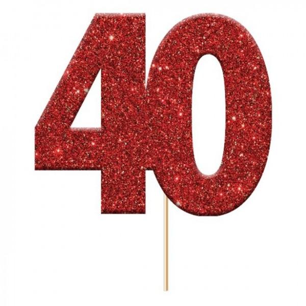 12 scintillanti 40 pikers decorativi rossi
