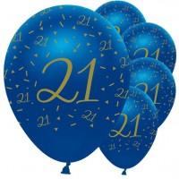 6 Luxurious 21st Birthday Ballons 30cm