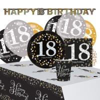 Golden 18th Birthday Deko Set 41-teilig