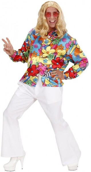Blumiges Herren Hippie Hemd