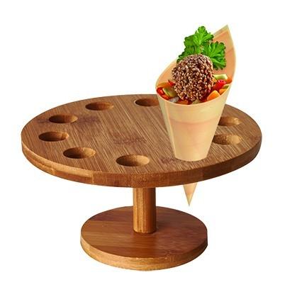 Bambus Halter für 10 Snack Tüten rund 18cm 1