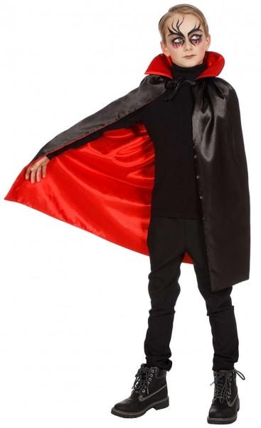 Mantello conte Dracula con colletto per bambini