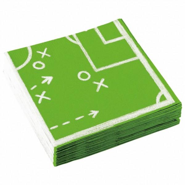 20 Servietten Fußball Spielzüge