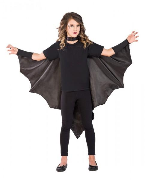 Mantello da pipistrello vampiro per bambina