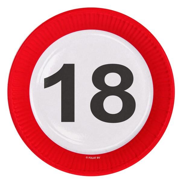 8 panneaux de signalisation 18 assiettes en papier 23cm