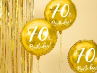 Glossy 70th Birthday Folienballon 45cm