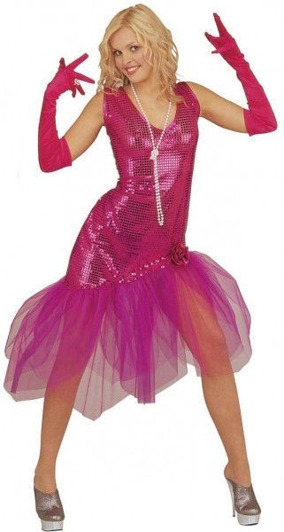 Dancing Queen Pink Power Paillettenkleid