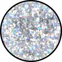 Zilver scatter glitter grof