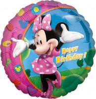 Ballon d'anniversaire Minnie Mouse rose