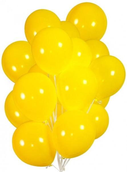 30 Ballons in Gelb 23cm