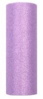 Glitzer Tüll Estelle lavendel 9m x 15cm