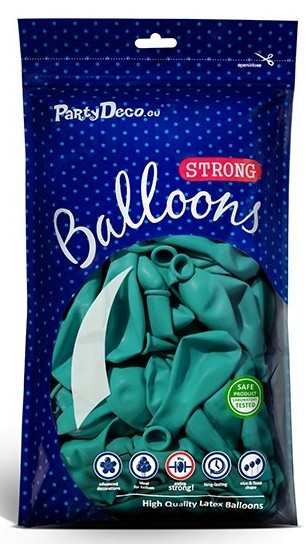 10 party star balloons turquoise 30cm