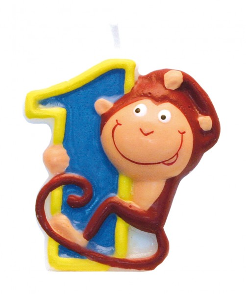 Number 1 cake candle jungle party 5cm