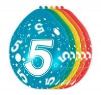 5 Ballons Big 5 30cm