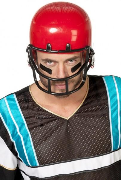 Roter American Football Spieler Helm