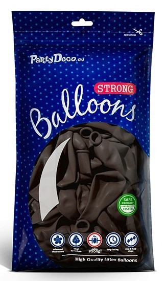 10 Partystar Luftballons schokobraun 30cm