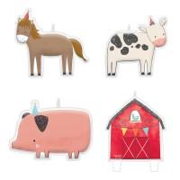 4 Happy Farm Life Tortenkerzen