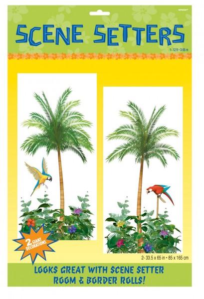 2 Palmen Scene Setter 85cm x 1,65m