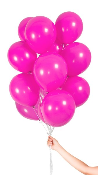 30 ballons en latex magenta 23cm