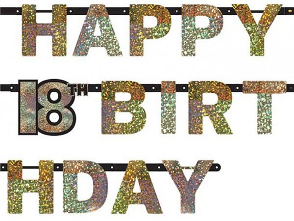 Funkelnde Happy 18th Birthday Girlande Time To Shine