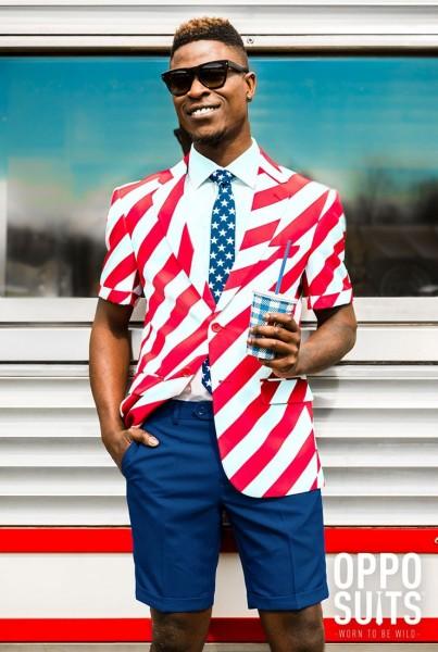 OppoSuits Sommer Anzug United Stripes